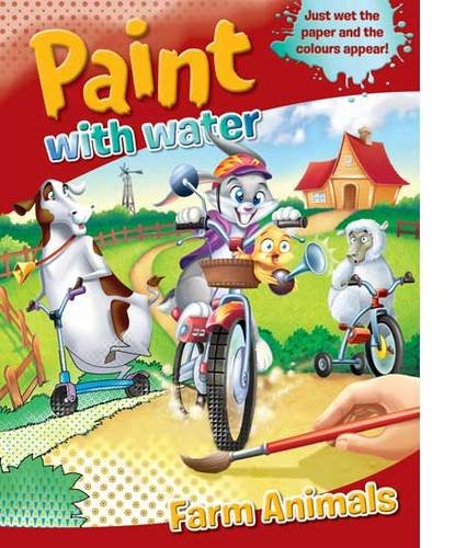 9781741852462: Paint With Water Farm Animals