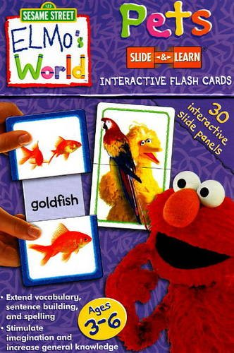 Pets: Sesame Street Elmo's World Slide & Learn Flash Cards (9781741859959) by Sesame Workshop