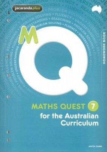 Maths Quest 7 for the Australian Curriculum Homework Book (Paperback): Tba