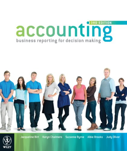 Accounting: Business Reporting for Decision Making: Jacqueline Birt, Keryn