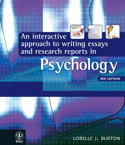 9781742166490: An Interactive Approach to Writing Essays and Research Reports in Psychology
