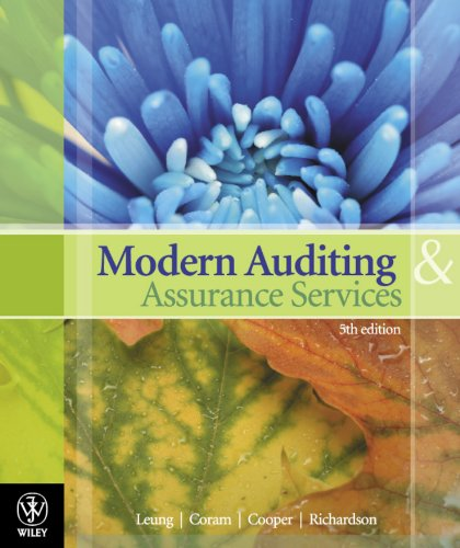 Modern Auditing Assurance Services (5th Australian Edition): Leung, Coram, Cooper,