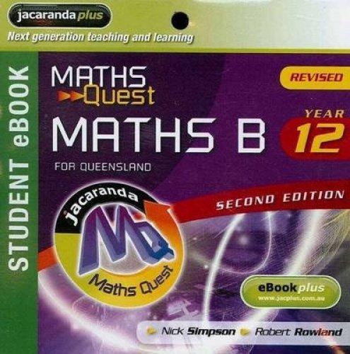 Maths Quest Maths B Year 12 for: Nick Simpson