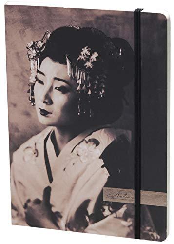 Geisha Lined Elastic Large Journal