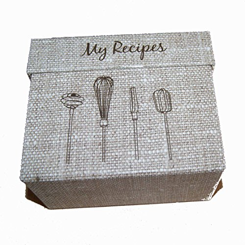 9781742684802: Recipe Card Box Hessian