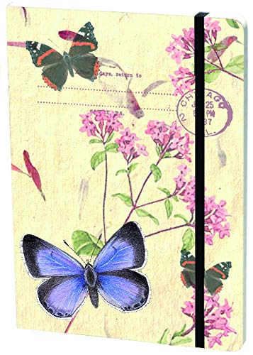 Large Elastic Journal Holly Blue With Fl (Hardcover)