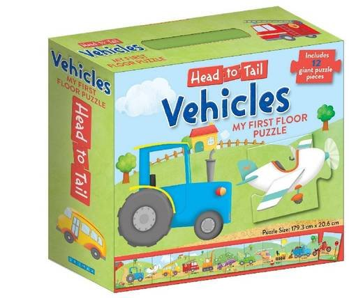 9781743003381: Head to Tail My First Floor Puzzle - Vehicles