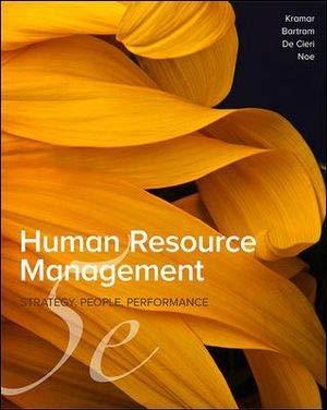 Human Resource Management: Strategy, People, Performance -: Robin Kramar ,