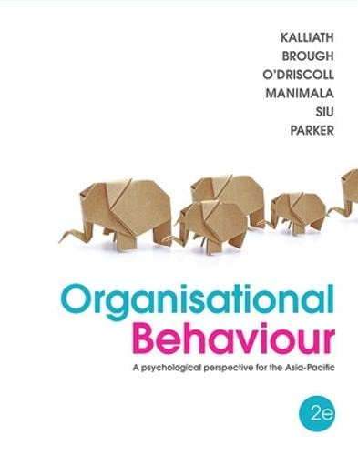 9781743071533: Organisational Behaviour: A Psychological Perspective for the Asia Pacific