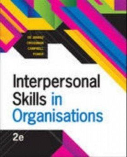 Interpersonal Skills in Organisations (Paperback): Joanna Crossman
