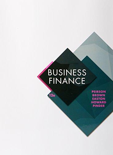 Business Finance (Paperback): Peirson Brown Easton Howard Pinder