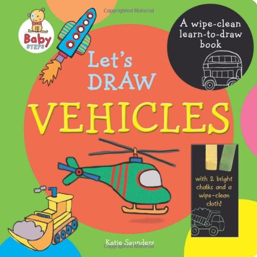 9781743466193: Baby Steps Lets Draw Vehicles Wipe Clean