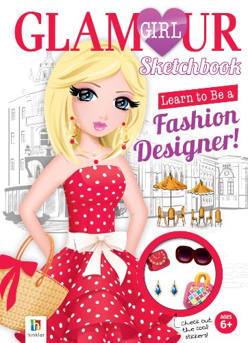 9781743527641: Learn to be a Fashion Designer Sketchbook (Glamour) (Glamour Girl)