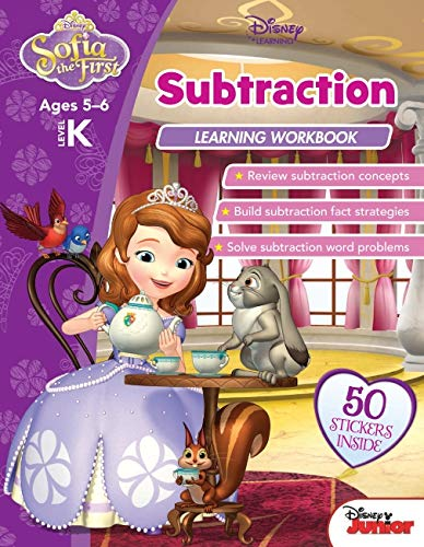 Disney Sofia the First - Subtraction Learning Workbook (Paperback)