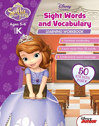 Disney Sofia the First - Sight Words and Vocabulary Learning Workbook (Paperback)