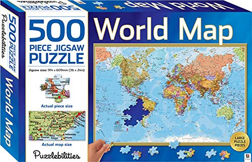 9781743633434 puzzlebilities world map 500 piece jigsaw puzzle 9781743633434 puzzlebilities world map 500 piece jigsaw puzzle gumiabroncs Image collections