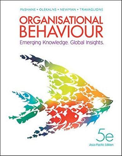 Organisational Behaviour: Emerging Knowledge. Global Insights. (Paperback): Olekalns, Newman, ...