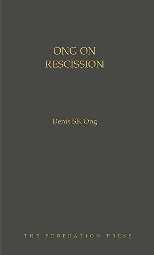 9781760020361: Ong on Rescission