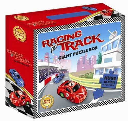 9781760060862: Racing Track Giant Puzzle Box (Floor Puzzle Carrycase)