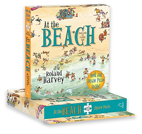 At the Beach Book and Jigsaw Puzzle (Paperback): Roland Harvey