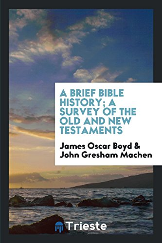 9781760571863: A Brief Bible History; A Survey of the Old and New Testaments