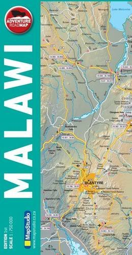 Malawi 1 : 750 000: Adventure Road Map: Booksite Afrika