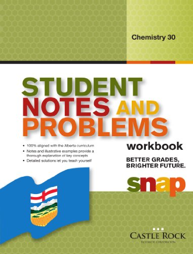 Student Notes and Problems Chemistry 30: Rao, Gautam