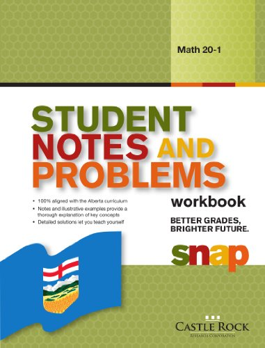 9781770442481: Student Notes and Problems Math 20-1