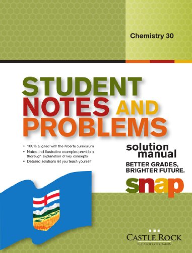 9781770442702: Student Notes and Problems Chemistry 30 Solution Manual