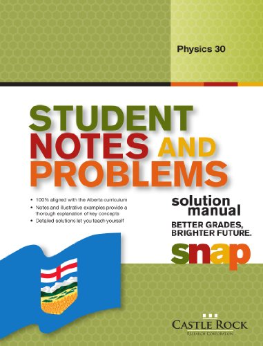 Student Notes and Problems Physics 30 Solution: Rao, Gautam