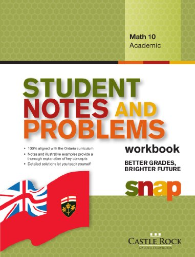 SNAP Workbook - Ontario Math 10 Academic,: Castle Rock Research