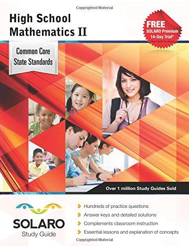 9781770443990: Common Core High School Mathematics II: SOLARO Study Guide (Common Core Study Guides)