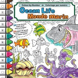 9781770661349: Colour-by-number (Ocean Life)