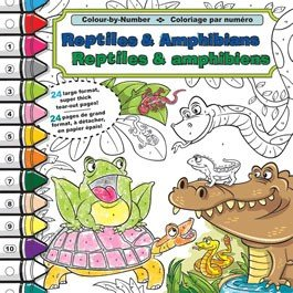 9781770661370: Colour-by-number (Reptiles & Amphibians)