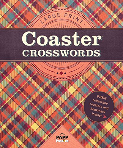 Large Print-Coaster Crosswords 1: Autumn Plaid: Bill Mersereau
