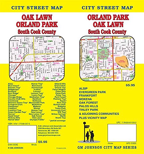9781770683075: Orland Park / Cook County South Suburban, Illinois Street Map