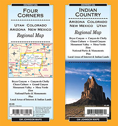 9781770684430: Indian Country / Four Corners (AZ,CO,NM,UT), State Map