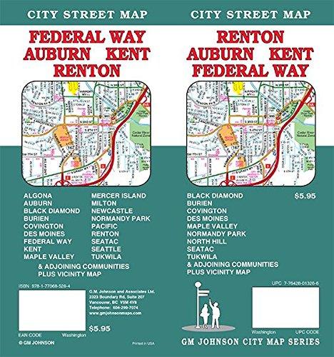 9781770685284: Renton / Auburn / Kent / Federal Way, Washington Street Map