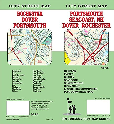 9781770685307: Portsmouth / Dover / Rochester / New Hampshire, NH Street Map