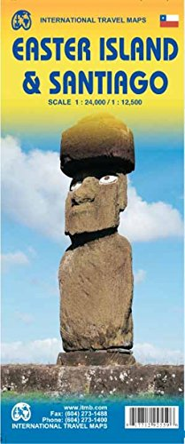 9781771292559: 1.Easter Island & Santiago Travel Reference Map