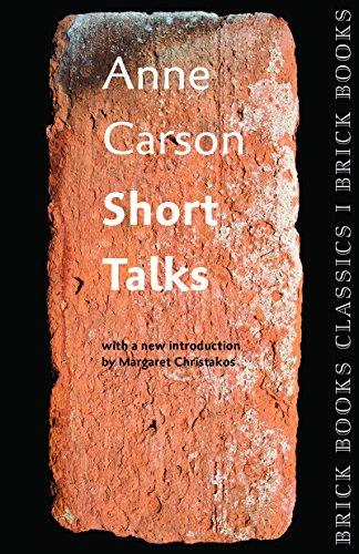 9781771313421: Short Talks: Brick Books Classics 1