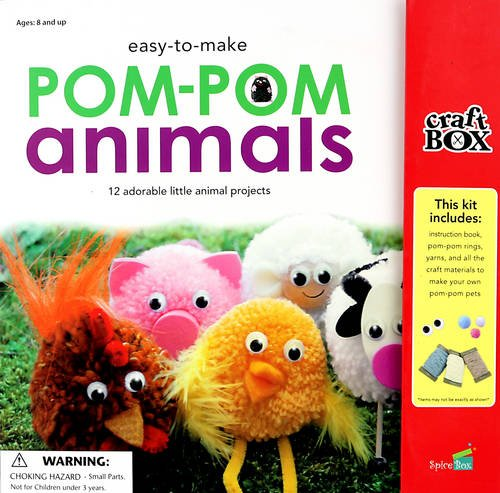 9781771320238: Easy-to-Make Pom-Pom Animals: 12 Adorable Little Animal Projects (Craft Box Kids)