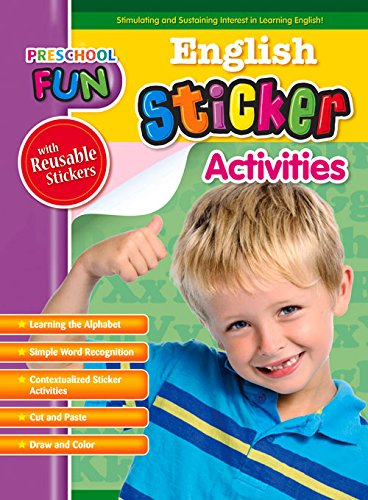 Preschool Fun - English Sticker Activities (Preschool Fun Series): Popular Book Company