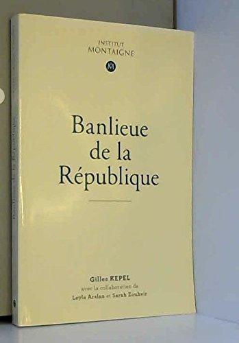 9781771675666: Banlieue de la République institut Montaigne