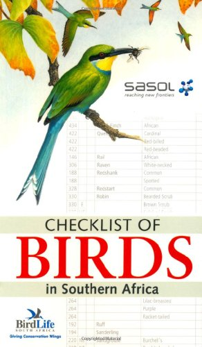 9781775840084: Checklist of birds in Southern Africa
