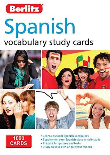 9781780044613: Berlitz Language: Spanish Study Cards (Berlitz Vocabulary Study Cards)
