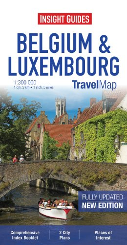 Insight Travel Map: Belgium & Luxembourg (Insight Travel Maps): aa vv
