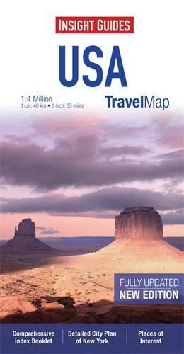 9781780054971: Insight Travel Map: USA & Canada South (Insight Travel Maps)