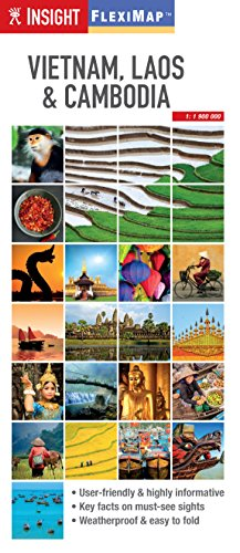 Insight Flexi Map: Vietnam, Cambodia and Laos (Insight Flexi Maps): APA Publications Limited