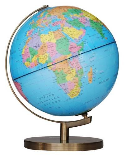 9781780059877: Insight Globe: Brass Political Illuminated (Insight Globes)